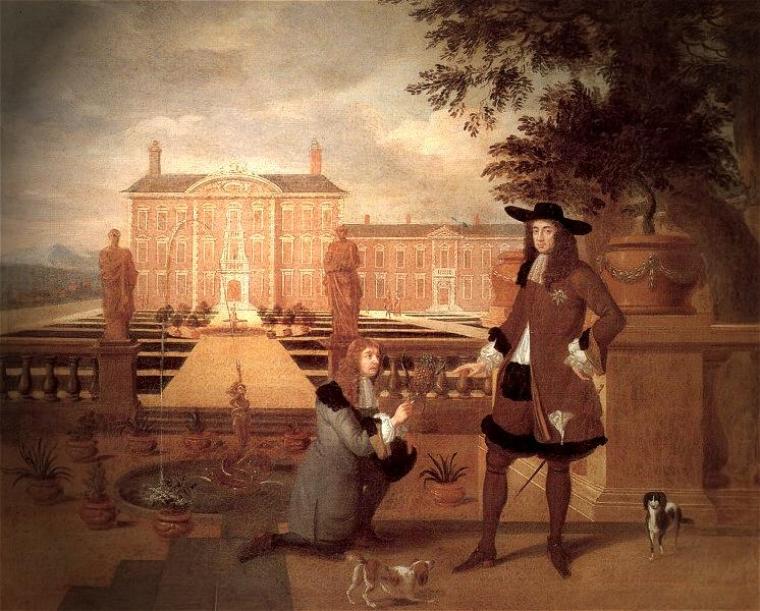 «Королевский садовник Джон Роуз дарит ананас королю Карлу II», 1675 г. Автор – Хендрик Данкертс / de-academic.com