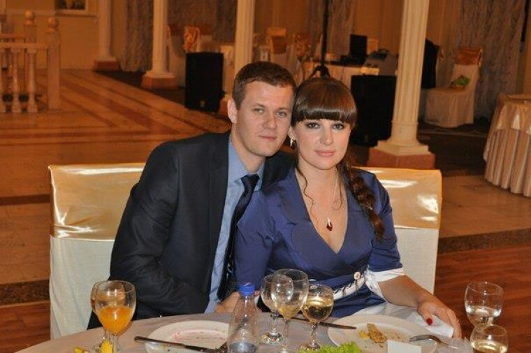 Денис Казанский с женой Еленой
