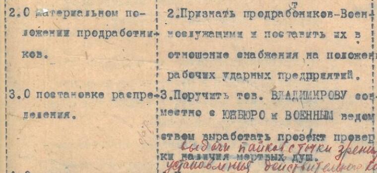 З рішення політбюро ЦК КП(б)У від 16 лютого. З матеріалів ЦДАГО України