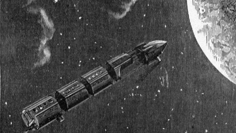 Отправка настоящих астронавтов NASA к спутнику Земли, как и персонажей романа, происходила во Флориде. Командный модуль космического аппарата NASA назывался «Колумбия»