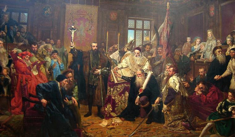 Ян Матейко, «Люблинская уния»