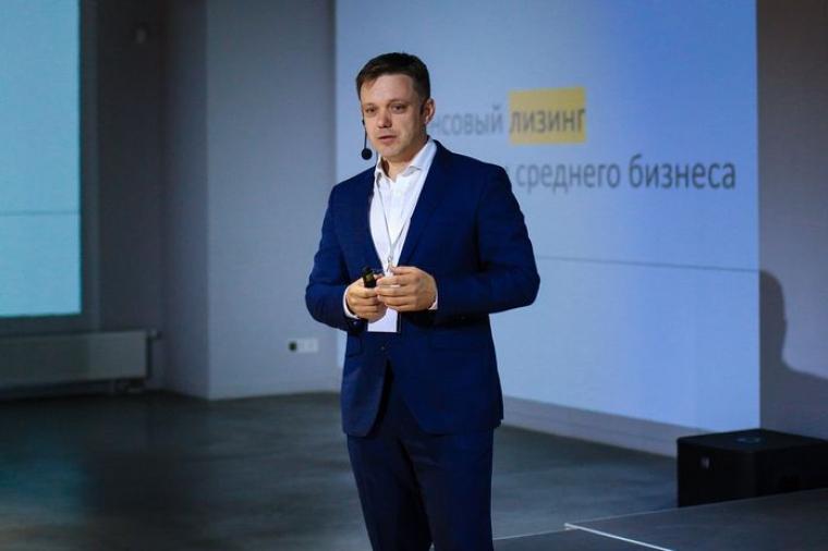 Євген Мецгер на конференції BUM SME Banking Club в Києві, 2018 р