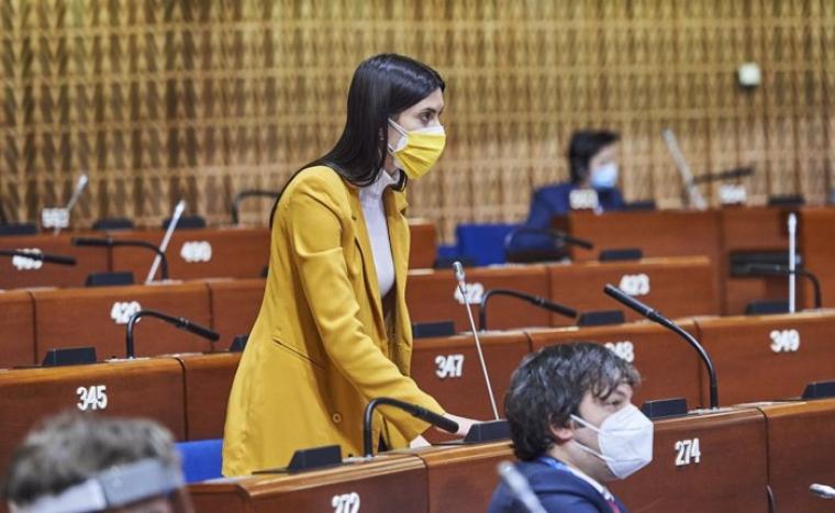 Мария Мезенцева во время сессии Парламентской ассамблеи Совета Европы/lb.ua