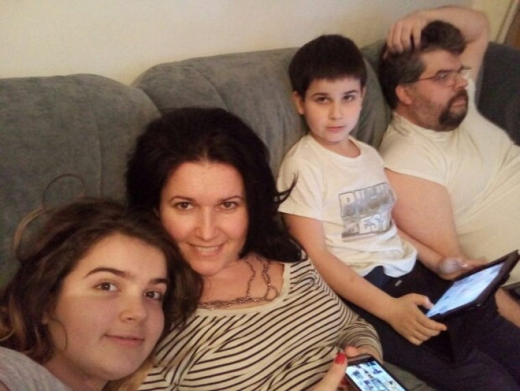 Богдан Яременко з сім'єю