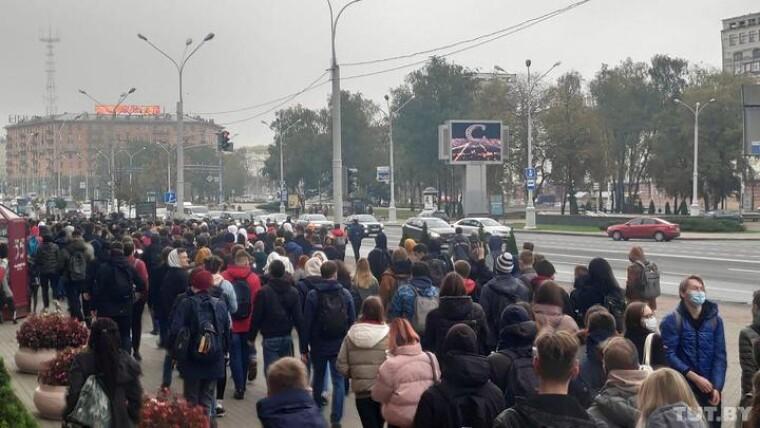 Білоруси знову вийшли на акції протесту 26 жовтня