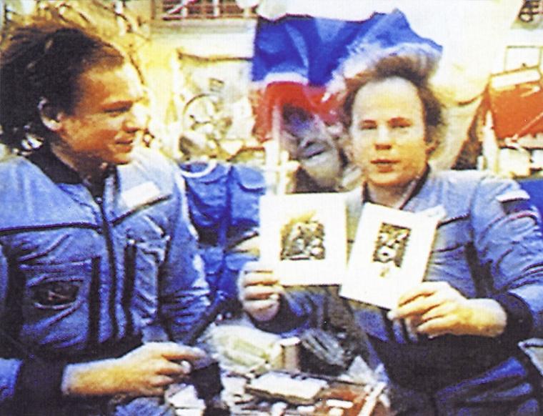 """Выставка Игоря Подольчака на космической станции """"Мир""""/zbruc.eu"""