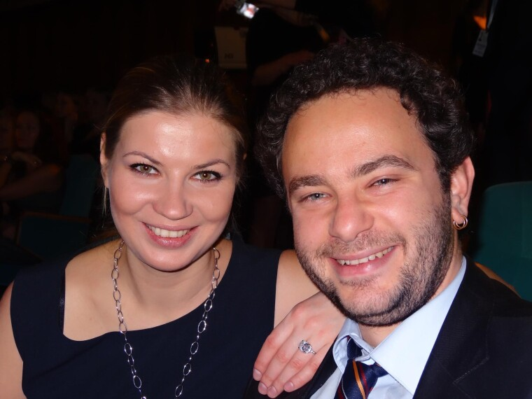 З колишньою дружиною Лесею Цибко