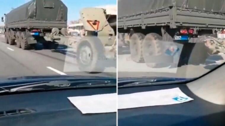 Россия везет к границе с Украиной военную технику / twitter.com/24tvua