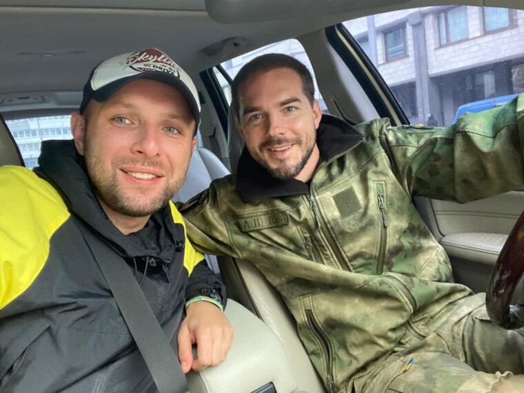 Евгений Шевченко с экс-депутатом Владимиром Парасюком