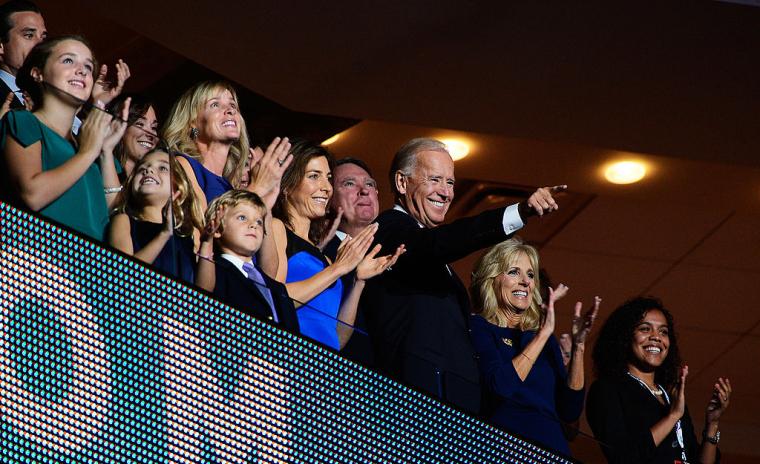 Джо Байден c сім'єю під час Національного з'їзду Демократичної партії, 2012 р