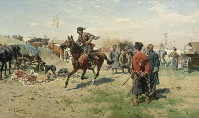 "Картина Юзефа Брандта ""Запорожские казаки"""