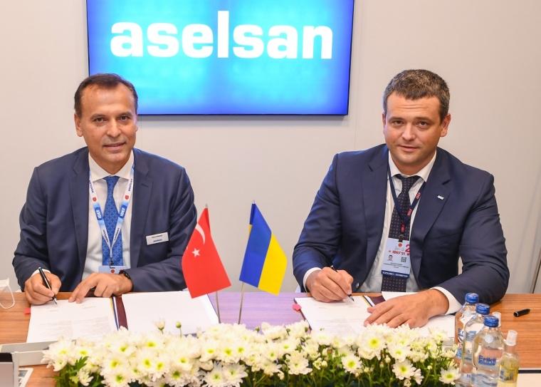 """Підписання контракту між ДК """"Укрспецекспорт"""" і турецькою оборонною компанією Aselsan/ukroboronprom.com.ua"""