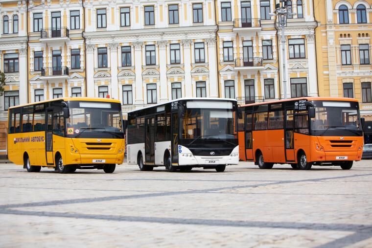 Лінійка сучасних автобусів ЗАЗ