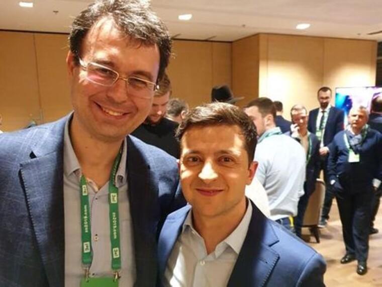 Даниил Гетманцев и Владимир Зеленский/politeka.net