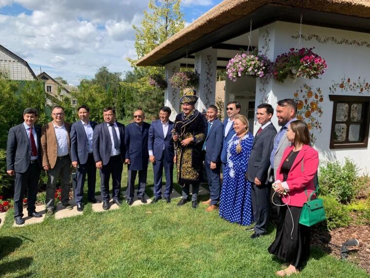 Михаил Саакашвили на встрече с делегацией из Казахстана