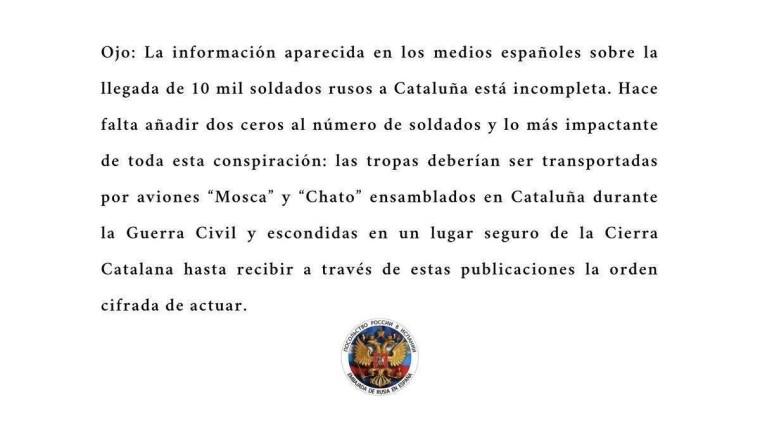 Текст заявления посольства РФ в Испании выдержан в хамски-ироничном стиле