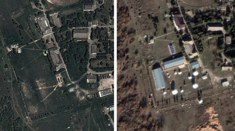 Новая радиотехническая станция вблизи Севастополя (справа)