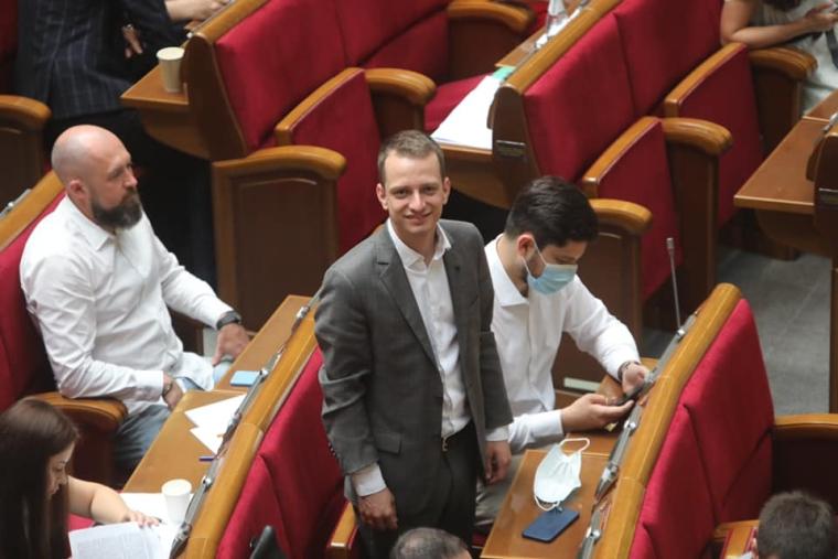 Алексей Устенко в зале Верховной Рады