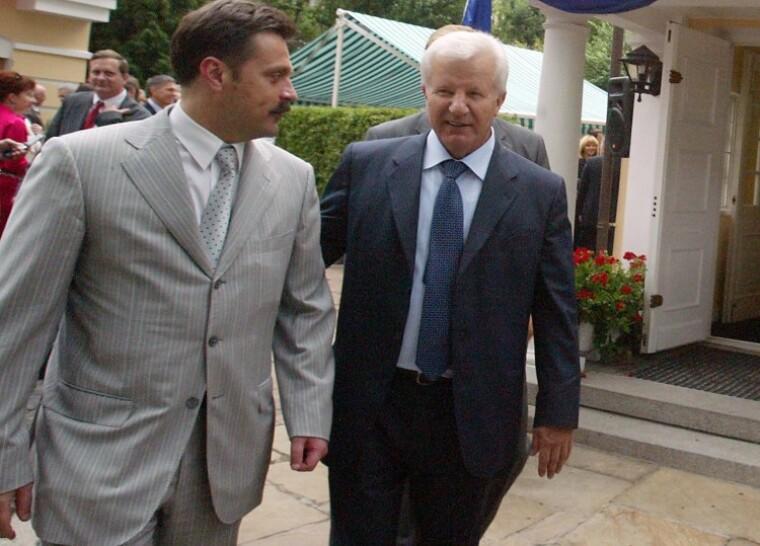 Председатель Верховной Рады Украины Александр Мороз и президент ГП «НАЭК« Энергоатом»Андрей Деркач, 2007 год