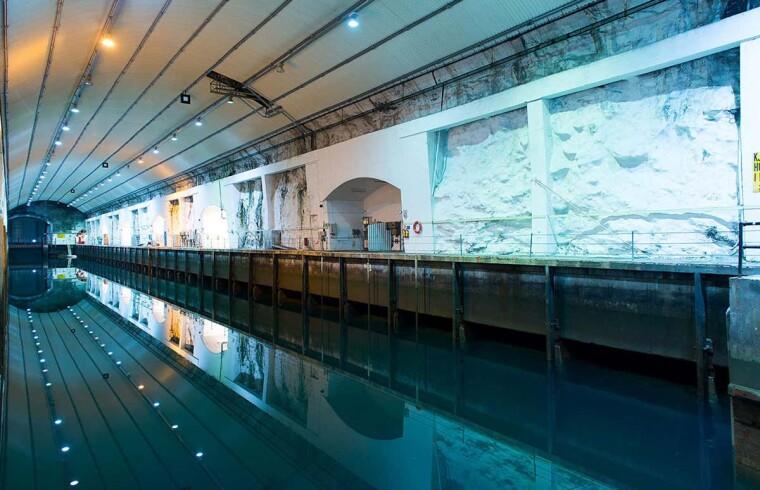 Подземные доки бывшей военно-морской базы ВМС Норвегии Олавсверн