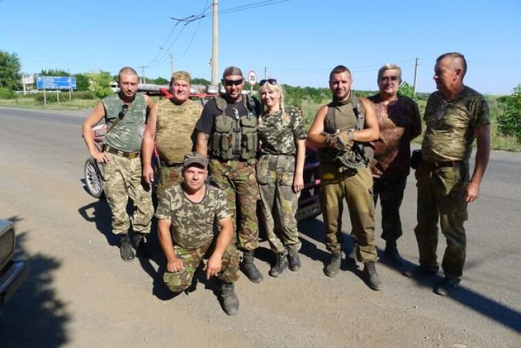 Мончинская с украинскими военными