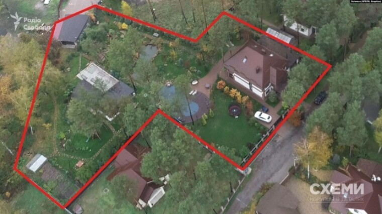 Дом в Василькове Киевской области, который, по словам главы КСУ Александра Тупицкого, принадлежит его теще Ларисе Колпаченко