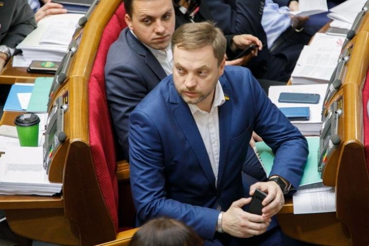 Денис Монастирський під час засідання Верховної Ради