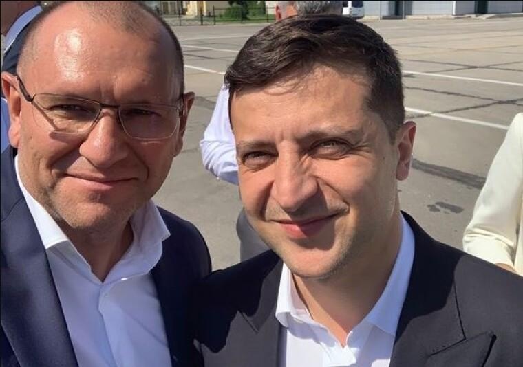 Евгений Шевченко и Владимир Зеленский