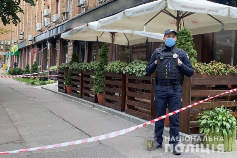 Полицейский на месте инцидента