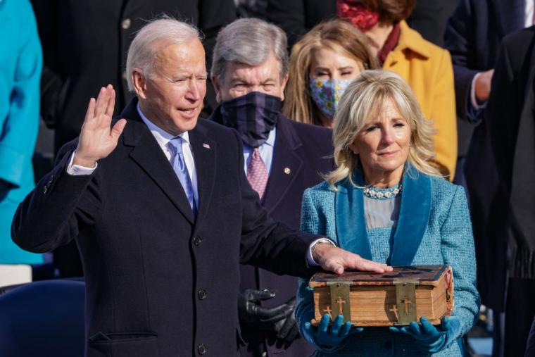 Джо Байден приймає присягу президента США, 20 січня 2021 р
