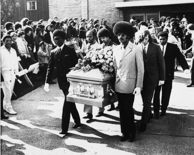 Похороны Джими Хендрикса / fanpop.com