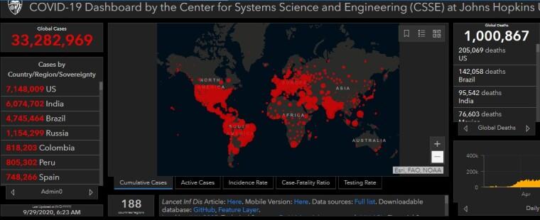 Розповсюдження коронавірусу в світі