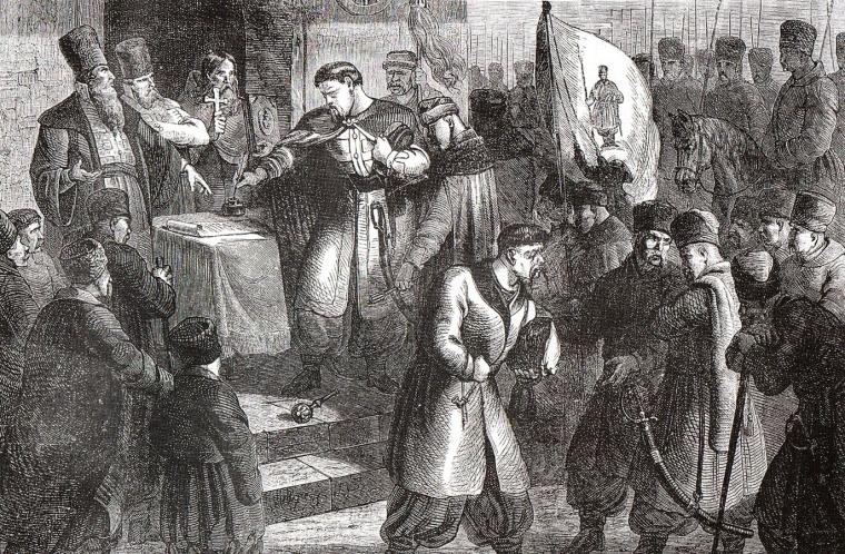 По мнению Вячеслава Липинского, «Переяславская легенда» «идеологически и юридически спасала украинскую аристократию от положения сословия завоеванного, подбитого, рабского в государстве чужом»