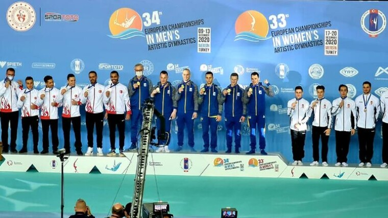 Украинские гимнасты выиграли золото чемпионата Европы