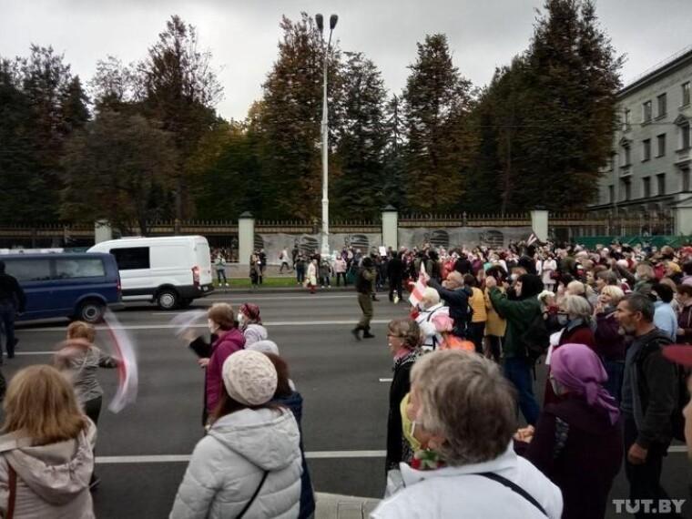 Марш пенсіонерів в Мінську