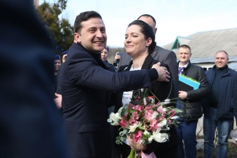 Зоряна Скалецкая и президент Украины Владимир Зеленский