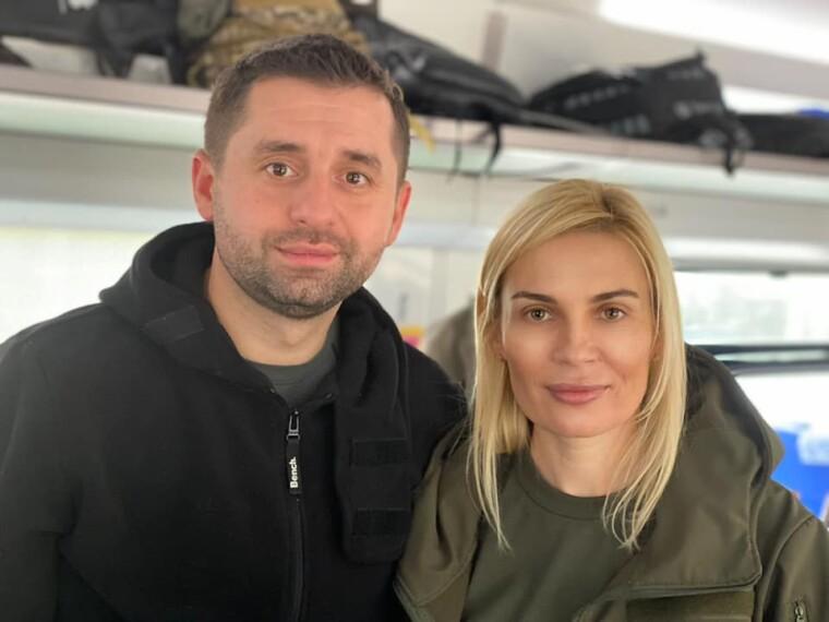 Давид Арахамия и Анна Личман
