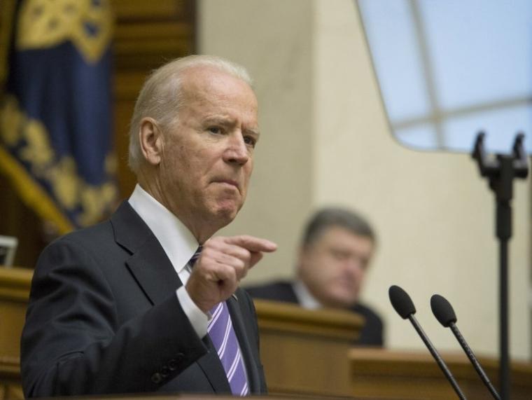 Віце-президент США Джозеф Байден під час виступу у Верховній Раді України 8 грудня 2015 р