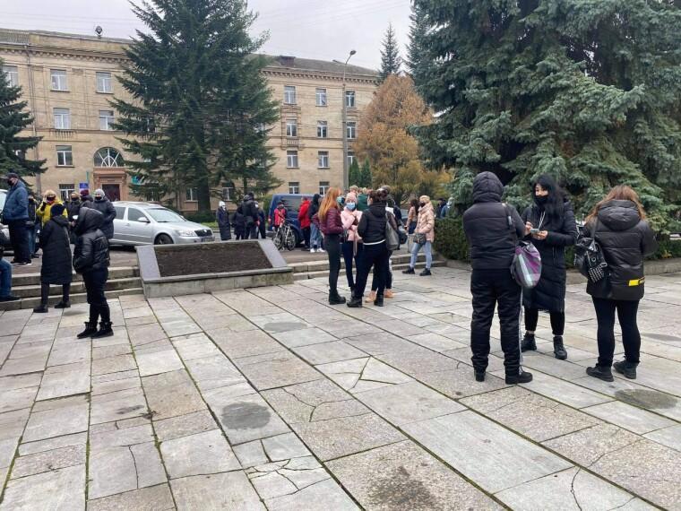 Протест в Ровно (rivne1.tv)