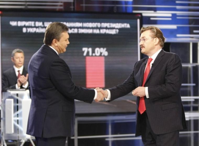 Віктор Янукович і телеведучий Євген Кисельов
