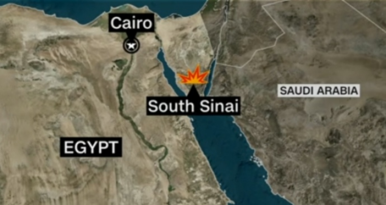 Місце аварії вертольота в Єгипті