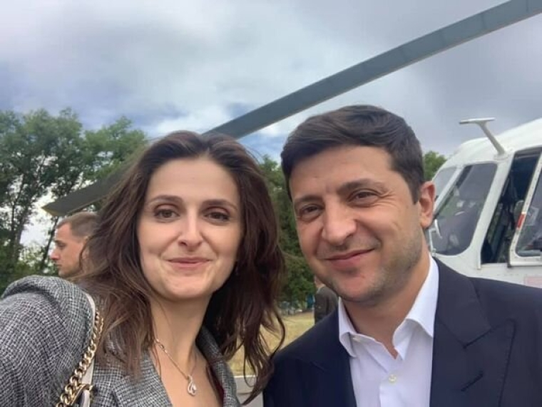 Ольга Василевская-Смаглюк и Владимир Зеленский