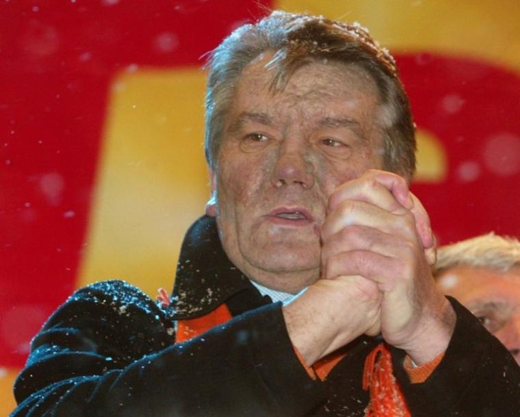 Виктор Ющенко после отравления, Оранжевая революция, 2004 г.