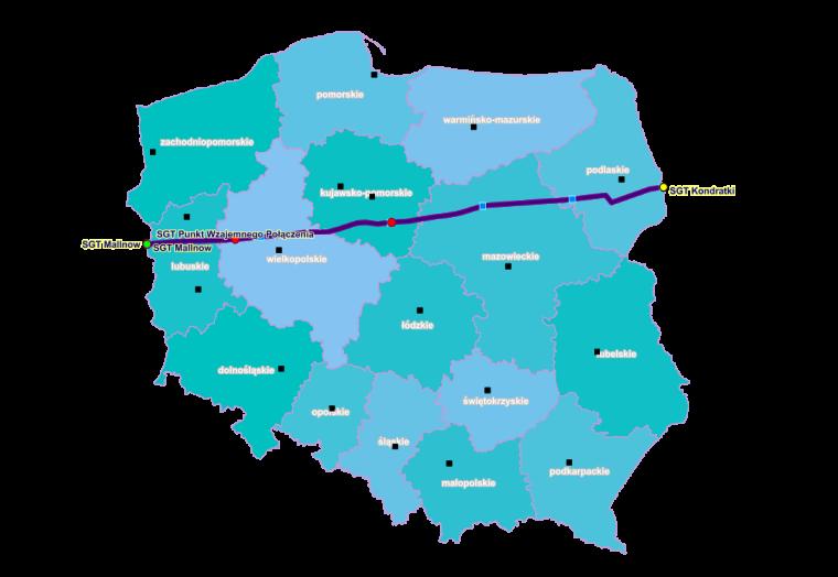 """Польский отрезок газопровода """"Ямал-Европа"""" / Источник: gaz-system.pl"""