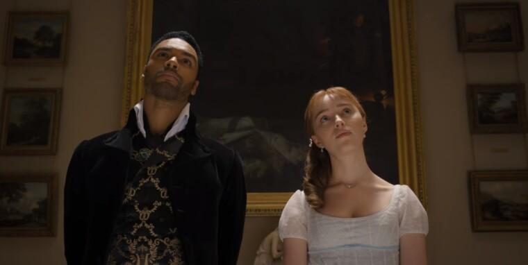 Герцог Саймон Гастінгс і міс Бріджертон у картинній галереї