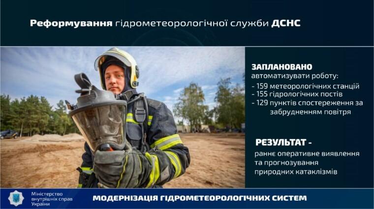 МВД планирует реформировать гидрометеорологической службе ДСНС