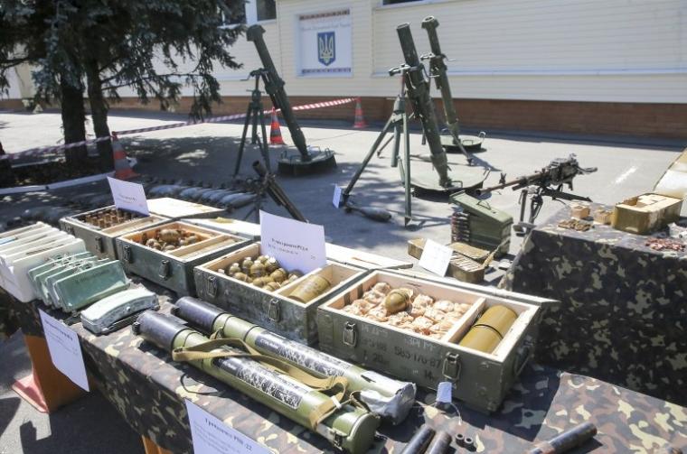 Демонстрація зброї, яке планували використовувати під час теракту