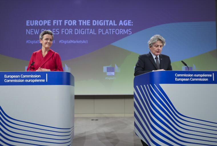 Єврокомісари на обговоренні закону про цифрові послуги (Digital Services Act)