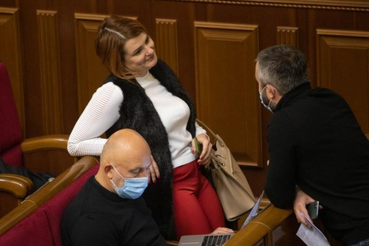 Людмила Буймистер во время заседания Верховной Рады