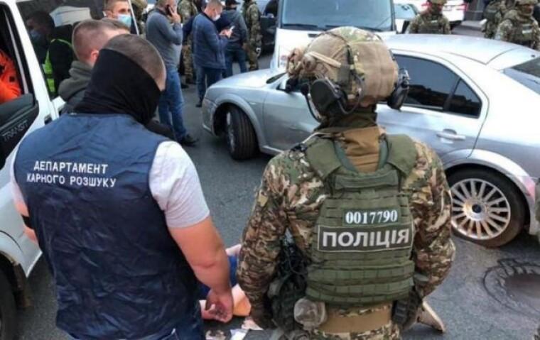Полиция и спецназ задержали преступников в центре Киева